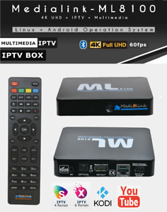 Details about Medialink ML9000 TV Box Android Stalker Xtream 4K Full UHD  2160p WIFI MAG 254 W1