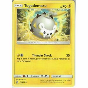 74-236-Togedemaru-Common-Card-SM12-Cosmic-Eclipse-Pokemon-Trading-Card-Game-TCG
