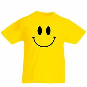 Smiley-Face-Kids-T-Shirt-Retro-Clubbing-Boys-Girls-Childrens-T-Shirt-Happy-T