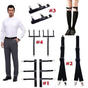 Men's Accessories Apparel Accessories Provided Mens Shirt Crease-resist Anti-skid Clip Legs Thigh Elastic Adjustable Suspender Holder Stays Garters For Gentlemen A30