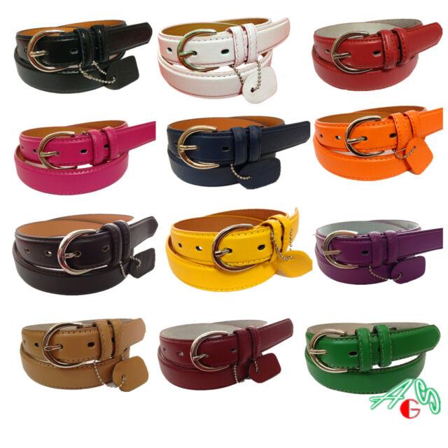 "Lot WOMEN/LADIES Skinny Leather Belt 1.1"" width Plus SIZE 2XL / XXL/3xl / $5.99"