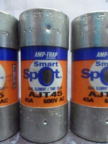 Nice Lot Shawmut AJT45 SmartSpot Amp Fuses Bussmann LPJ 45SP Class J 600 Volts