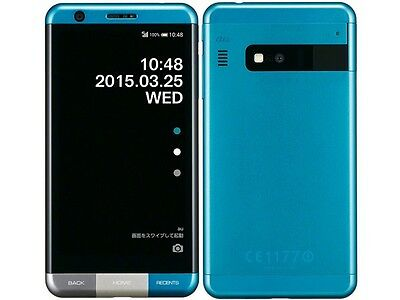 KYOCERA KYV33 INFOBAR A03 ANDROID 4K METAL PHONE UNLOCKED JAPAN BLUE NEW