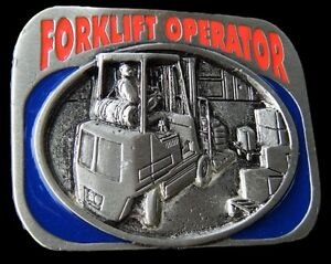 BELT-BUCKLE-FORKLIFT-FORKLIFTS-MACHINE-OPERATORS-OCCUPATION-BOUCLE-DE-CEINTURE
