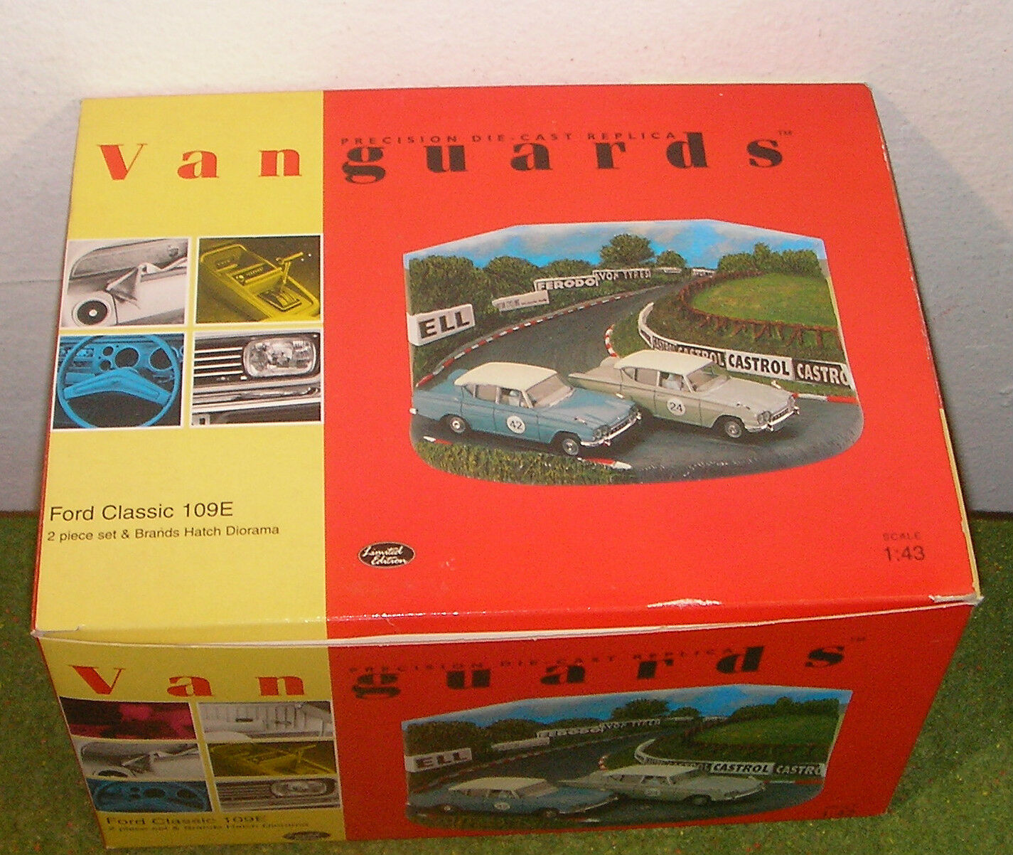 VANGUARDS DIE-CAST 1 43 SCALE RD1002 FORD CLASSIC 109E BRANDS HATCH -- CORGI