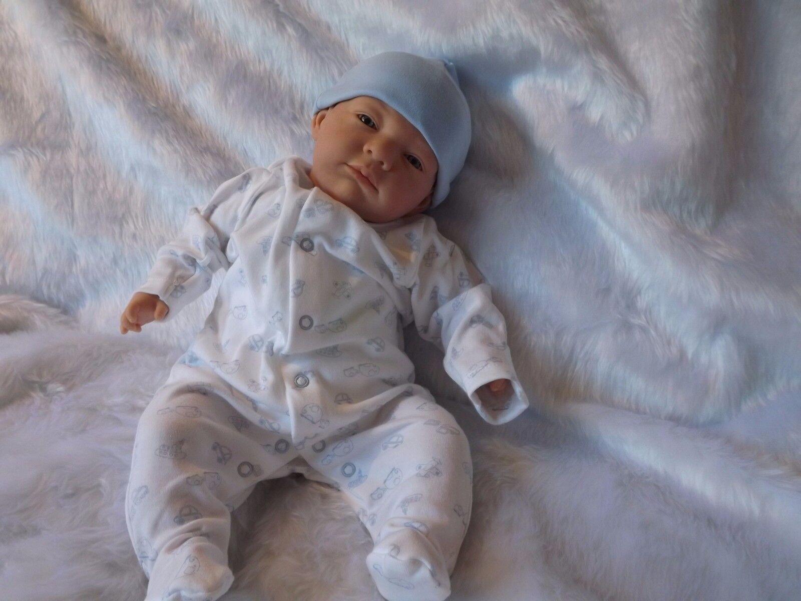 Shy azul Eyed niño bebé bebés renacidos falso realista Muñeca Niño Niña Cumpleaños bjls