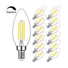 Candelabra LED Bulbs Filament Dimmable Vintage Edison Light Bulb Chandelier,Daylight 5000k,40 Watt Equivalent,400 Lumen,E12 Base,6 Pack