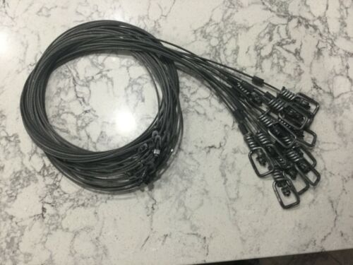 """Cable Restraints SNARES Details about  /Trappping: 12 72"""" length 3//32 7x7 cable Dyed Coyote"""