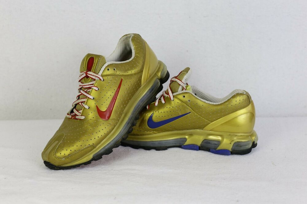RARE Homme Nike Air Max Baskets Chaussures Gold Lace UPS 6.5 Chaussures Baskets de sport pour hommes et femmes aee272