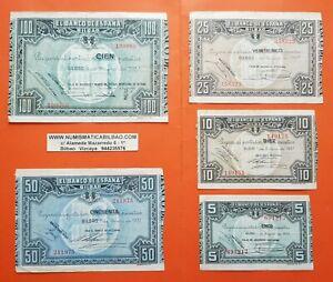 BILBAO-5-10-25-50-100-PESETAS-1937-EUSKADI-GUERRA-CIVIL-EUZKADI-1936-BILLETES-6