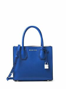 ff0235343839 Michael Kors Studio Mercer Medium Messenger Electric Blue 30f6sm9m2l ...