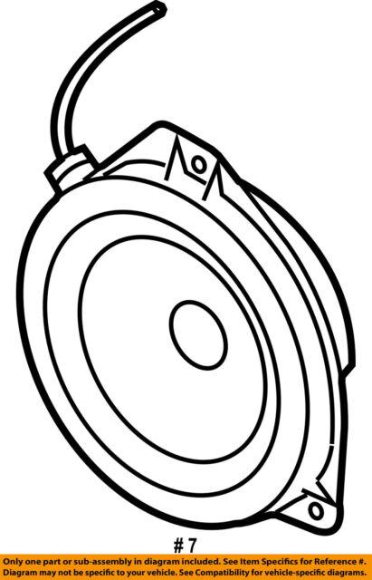 05 Legacy Gt Outback Speaker Right Front Door For Sale Online