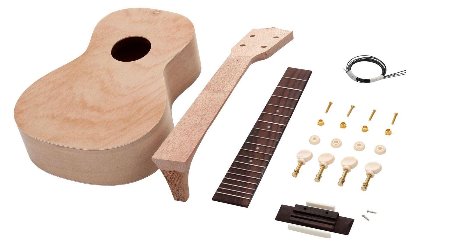 DIY Ukulele Hawaiian Guitar Do It Yourself Uke Construction Kit Complete Set