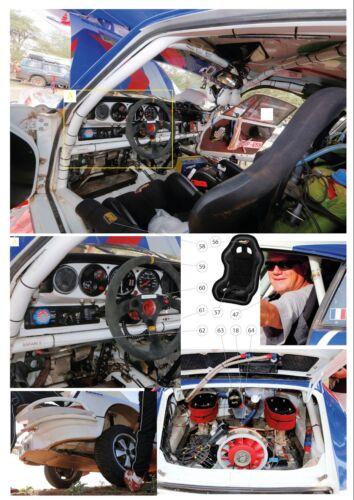 Decals 1//43 Porsche 911 Kronos # 16 East African Safari 2013 FFSMC Productions