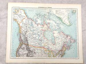 1894 Antik Map Of Kanada Greenland Alaska Alte Original 19th Century Französisch