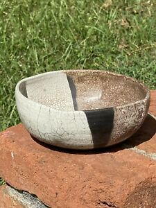 Vintage-Handmade-Clay-Pottery-Bowl-Multicolored-Artist-Signed-Art-Bowl