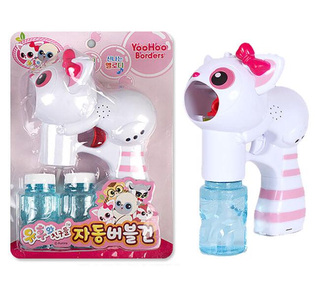 YooHoo Bubble Gun Pink Toy LED Light Melody Machine bubble blower Children Kids