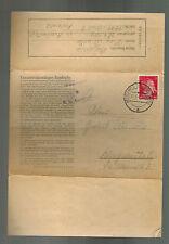 1943 Germany Auschwitz Concentration Camp Cover Konigshutte Franz Wiessalla KZ