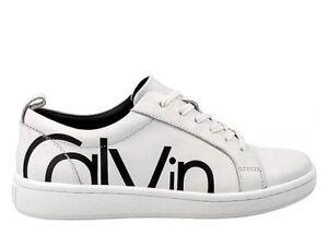 Calvin-Klein-DANYA-COW-SILK-E4835-Bianco-Scarpa-Sportiva-Casual