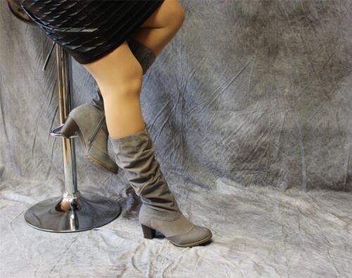 Citywalk Stiefel im Materialmix mit geschopptem Schaft