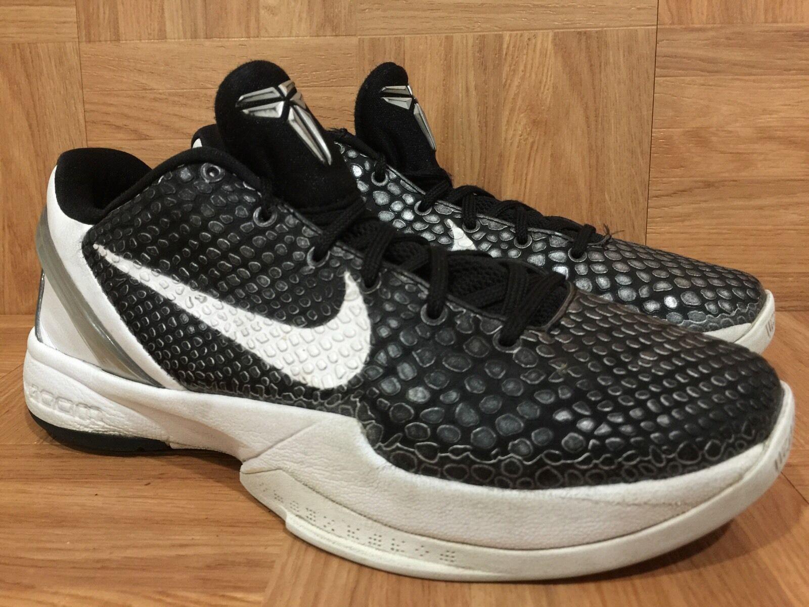RARE Nike Zoom Kobe VI TB Black Anthracite Metallic Silver Sz 6.5 454142-011