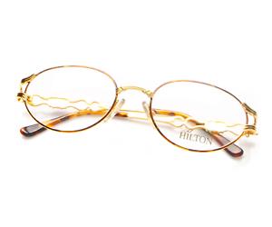 Vintage-Hilton-Parklane-101-2-24Kt-Oval-Eyeglasses-Brille-Optical-Frame-Lunettes