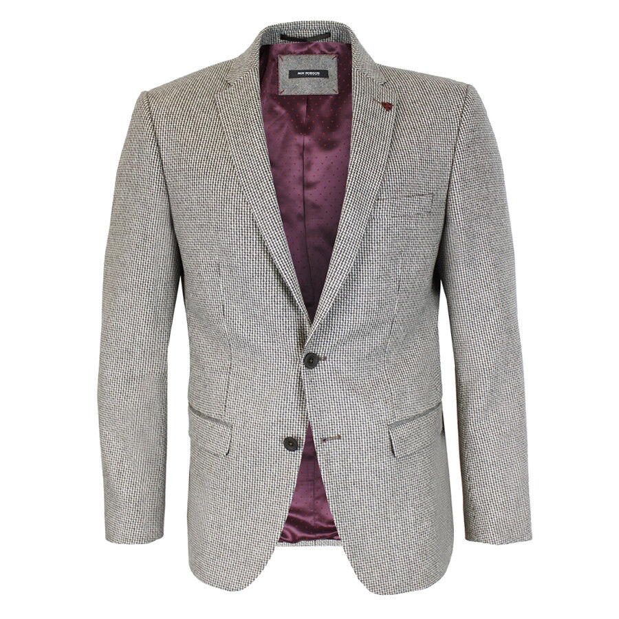 Roy Robson - Brown Oatmeal Tweed Blazer - 44R - NEW WITH TAGS RRP