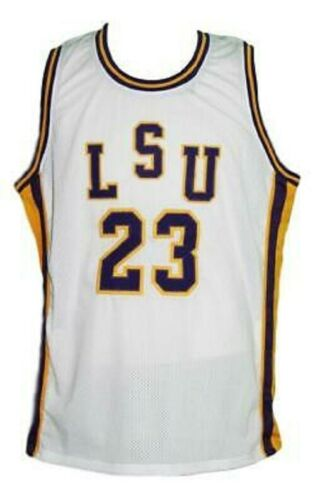 ANY SIZE PETE MARAVICH #23 COLLEGE BASKETBALL JERSEY WHITE