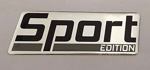 SPORT-EDITION-Sticker-Decal-CHROME-GREY-HIGH-GLOSS-DOMED-GEL-FINISH