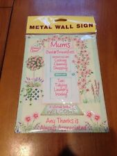 Mum's Bed and Breakfast Metal Wall Sign - Mothers day gift - Wall hanging plaque