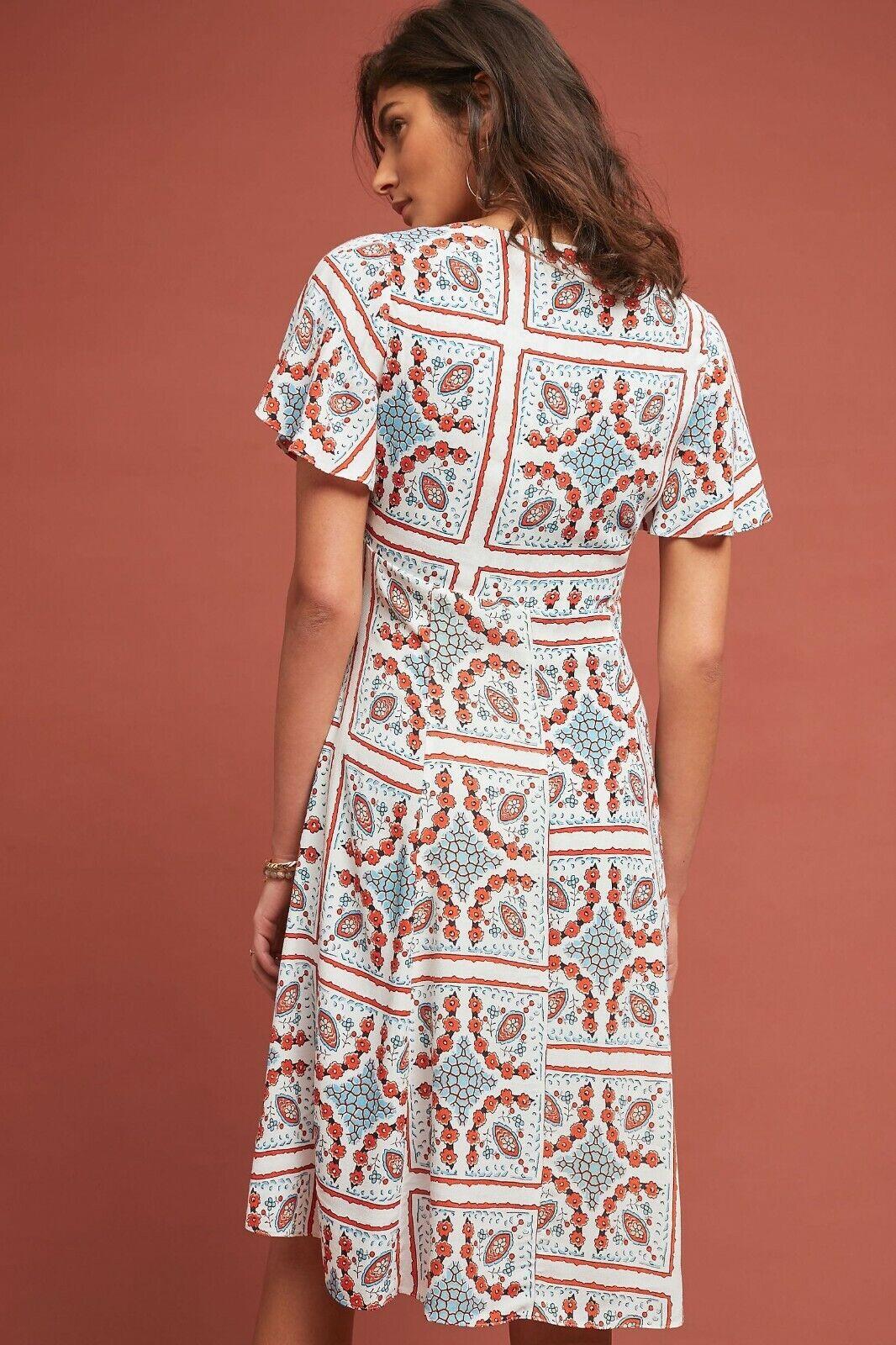 Anthropologie Maeve Praslin Floral Buttondown Dress  size 10 10 10 NEW  138 0be7c3