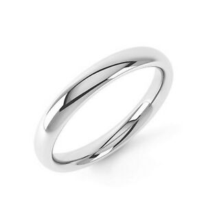 Sterling Silver Wedding Ring Band Solid Hallmarked Heavy Weight Court Shaped
