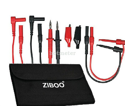 H● ZIBOO ZB-KIT11 Multimeter Electronic Test Leads Kit with Soft Bag