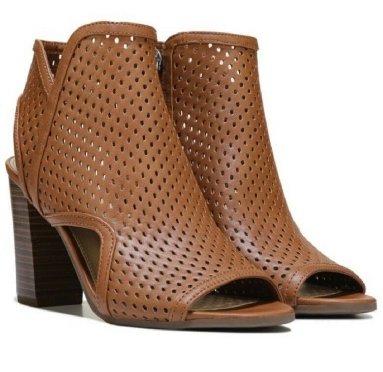 New in peep Box SAM EDELMAN Braun peep in toe ankle booties heeled emerson Stiefel NIB a8cc17