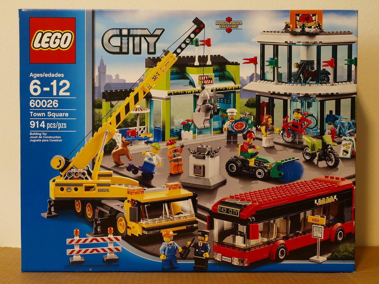 Brand nouveau LEGO City Town  Square 60026 MISB Sealed US seller  design simple et généreux