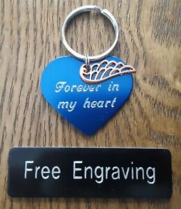 personalised metal mother and daughter forever heart keyring BR587 Engraved