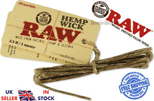 RAW 1m 4m Meter Hemp Wick Natural Unbleached Unrefined Hemp & Beeswax Pack