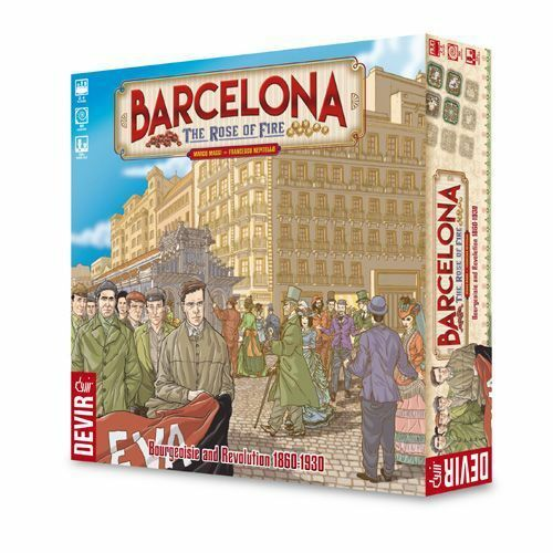 Barcelona Board Game - Rose of Fire Bourgeoisie Revolution in France 1860-1930