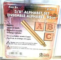 Leather Factory NOM212224 Easy-To-Do Series Stamp Set Fancy Alphabet 3 8 Craft Supplies