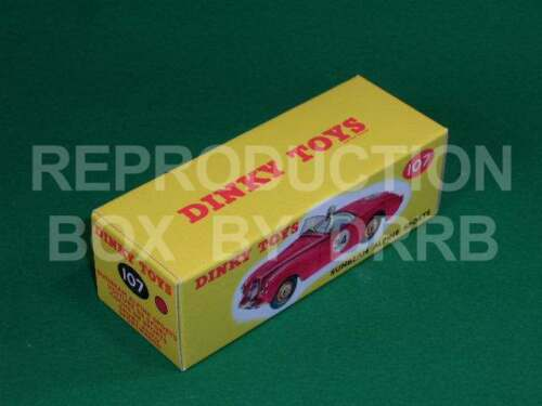 dark pink Dinky #107 Sunbeam Alpine Sports Reproduction Box by DRRB