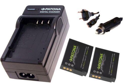 Ladegerät für Nikon KeyMission 360 2x Patona Premium AKKU EN-EL12 inkl