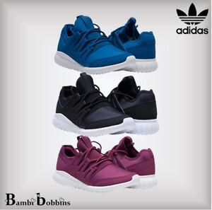 best sneakers ea960 7b806 Details about SALE - Adidas Orig Tubular Radial Trainers Purple Girls UK  Size 11 12 13 Kids