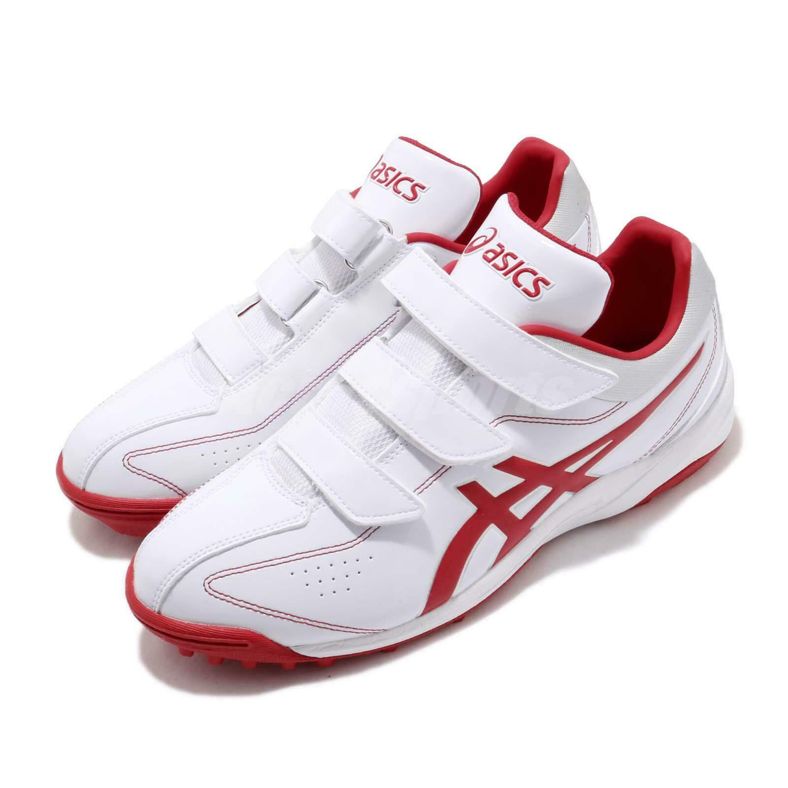 Asics Neorevive  TR White Red Strap Men Baseball Softball shoes SFT144-0123  new listing