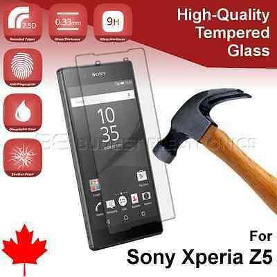 Sony Xperia Z5 High Quality Tempered Glass Screen Protector from Canada