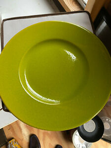 Charger-Plates-Chop-Plate-Lime-Made-in-Waechtersbach-Germany-10-For-Sale