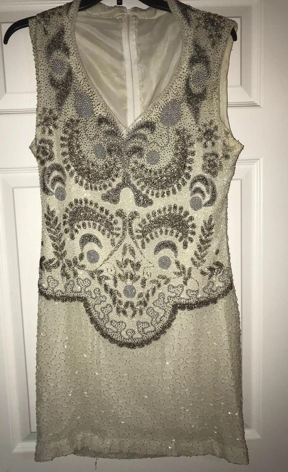 Womans Beaded Dress Sz 10