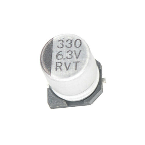 50PCS 330uF 6.3V 330MFD 6.3Volt SMD Electrolytic Capacitor 6mm×7mm NEW