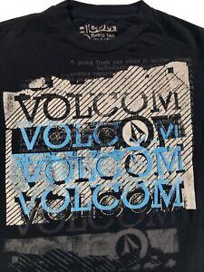 Volcom-Mens-Black-T-shirt-Sz-S