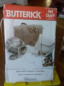 Oop-Butterick-Crafts-Wendy-Everett-444-misses-handbags-satchel-NEW