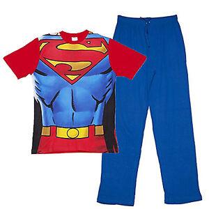 design di qualità 2915e 1188b Dettagli su Ufficiale da Uomo Dc Comics Superman Torace Set Pigiama